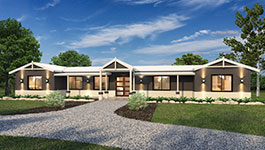 Evoke 4 bedroom design home with gravel driveway - Modular Homes Western Australia