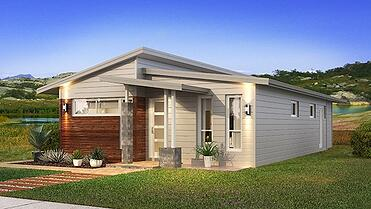 The Adair with Skillion Home Design with Front Garden | Modular Homes Perth WA