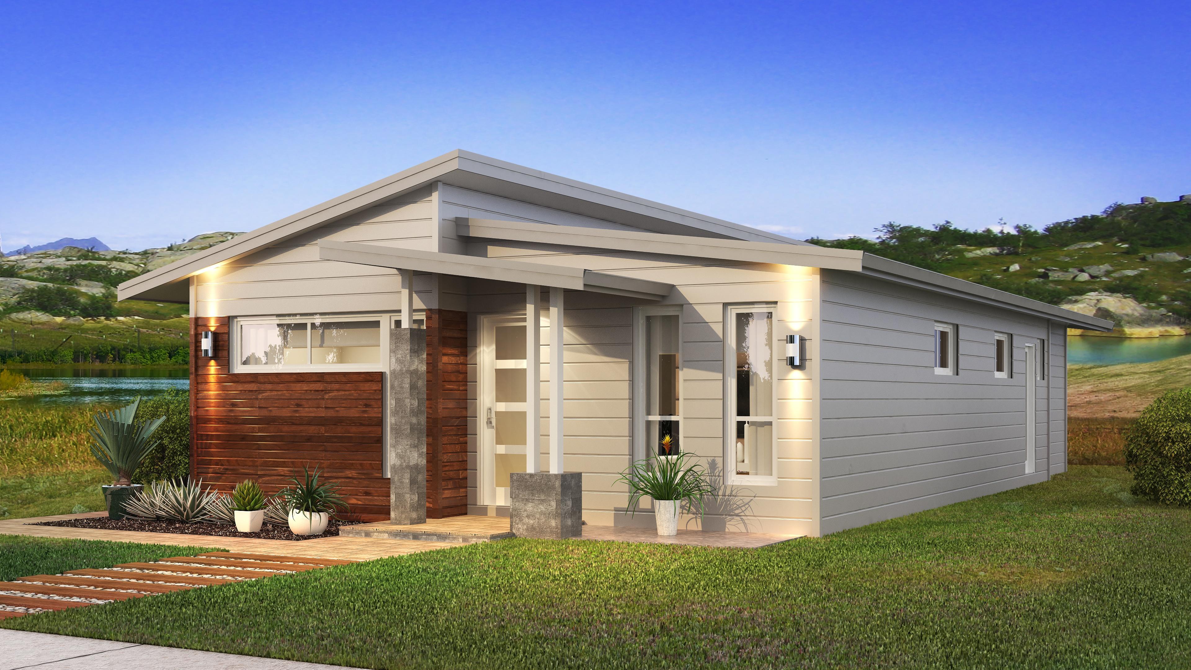 The Adair with Skillion Facade Home Design | Evoke Living Homes