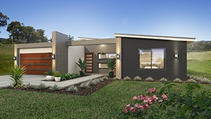 The Akora Modern Home Design with Garage and Front Yard with Walkway | Modular Homes Western Australia