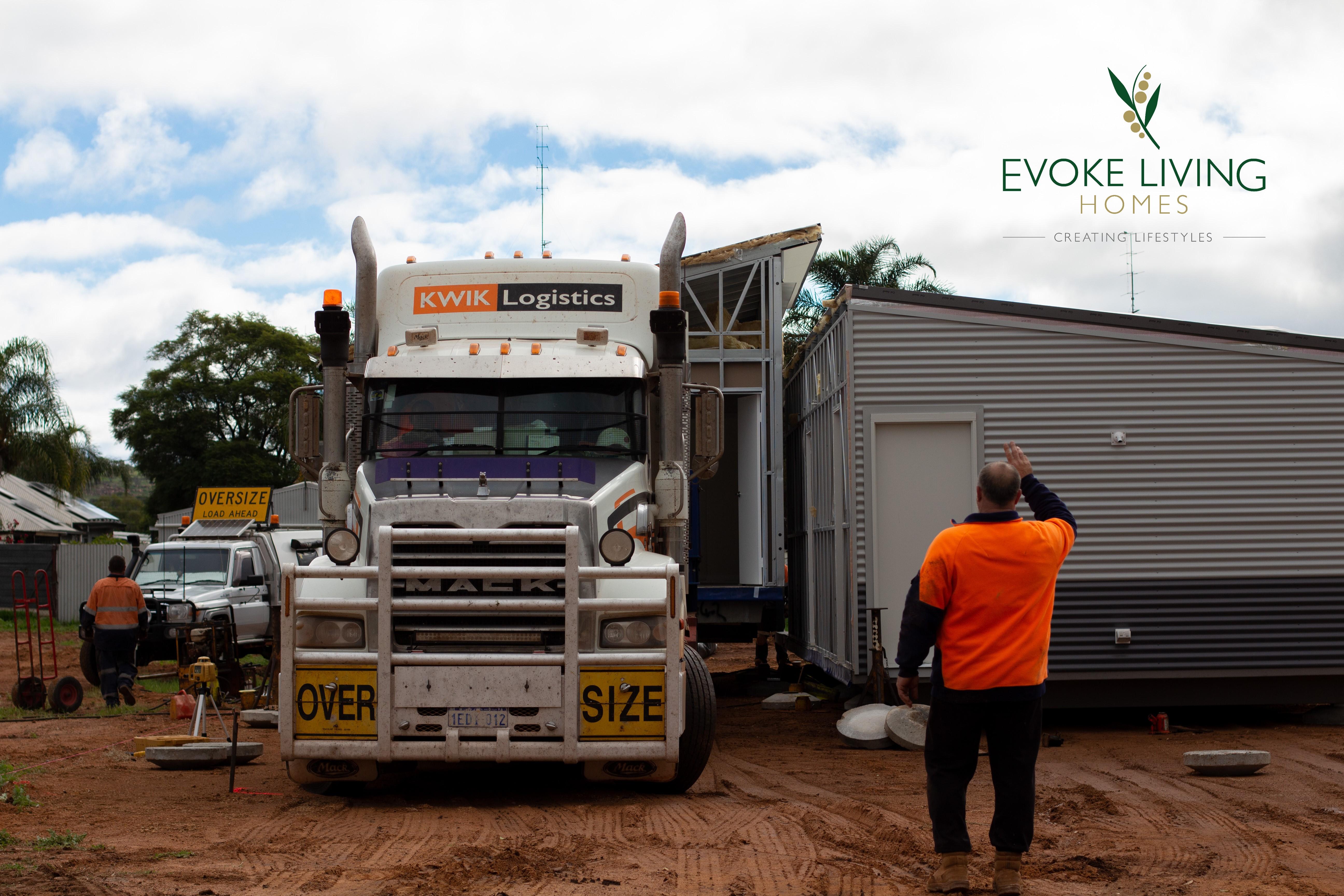 Evoke Living Homes modular home transport