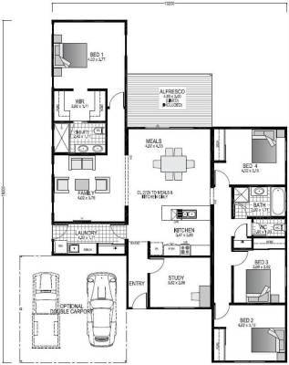 The Hamelin Blueprint and Floor plan | Modular Homes Perth WA