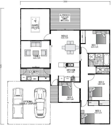 The Northwood Blueprint and Floor Plan | Modular Homes Perth