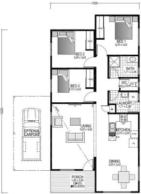 The Rocklea Blueprint and Floor plan | Modular Homes WA