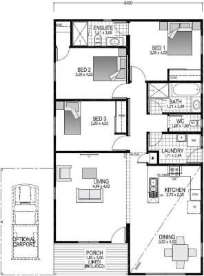 The Willow Blueprint and Floor plan | Transportable Homes WA