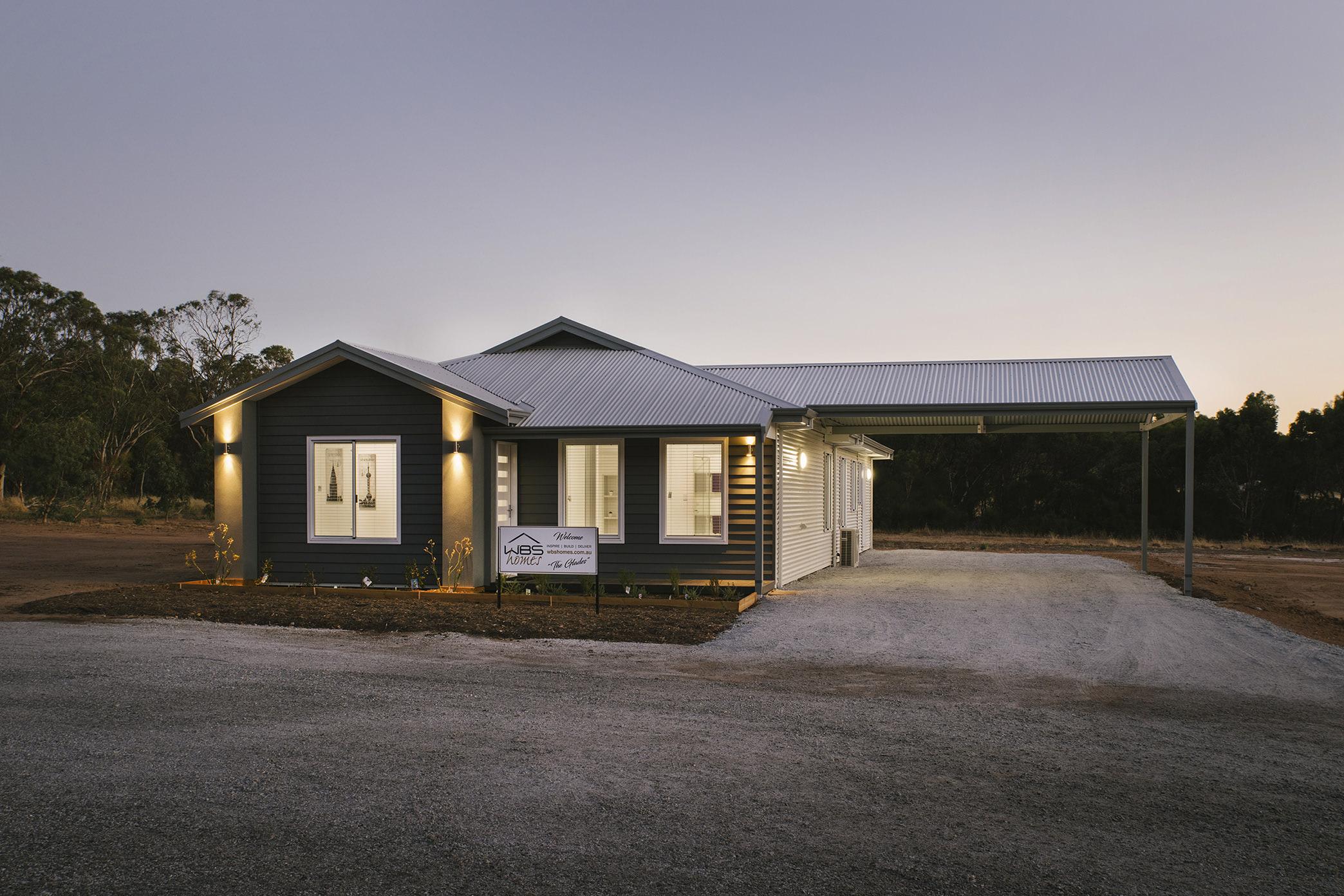 Evoke Modular Home Display with Carport