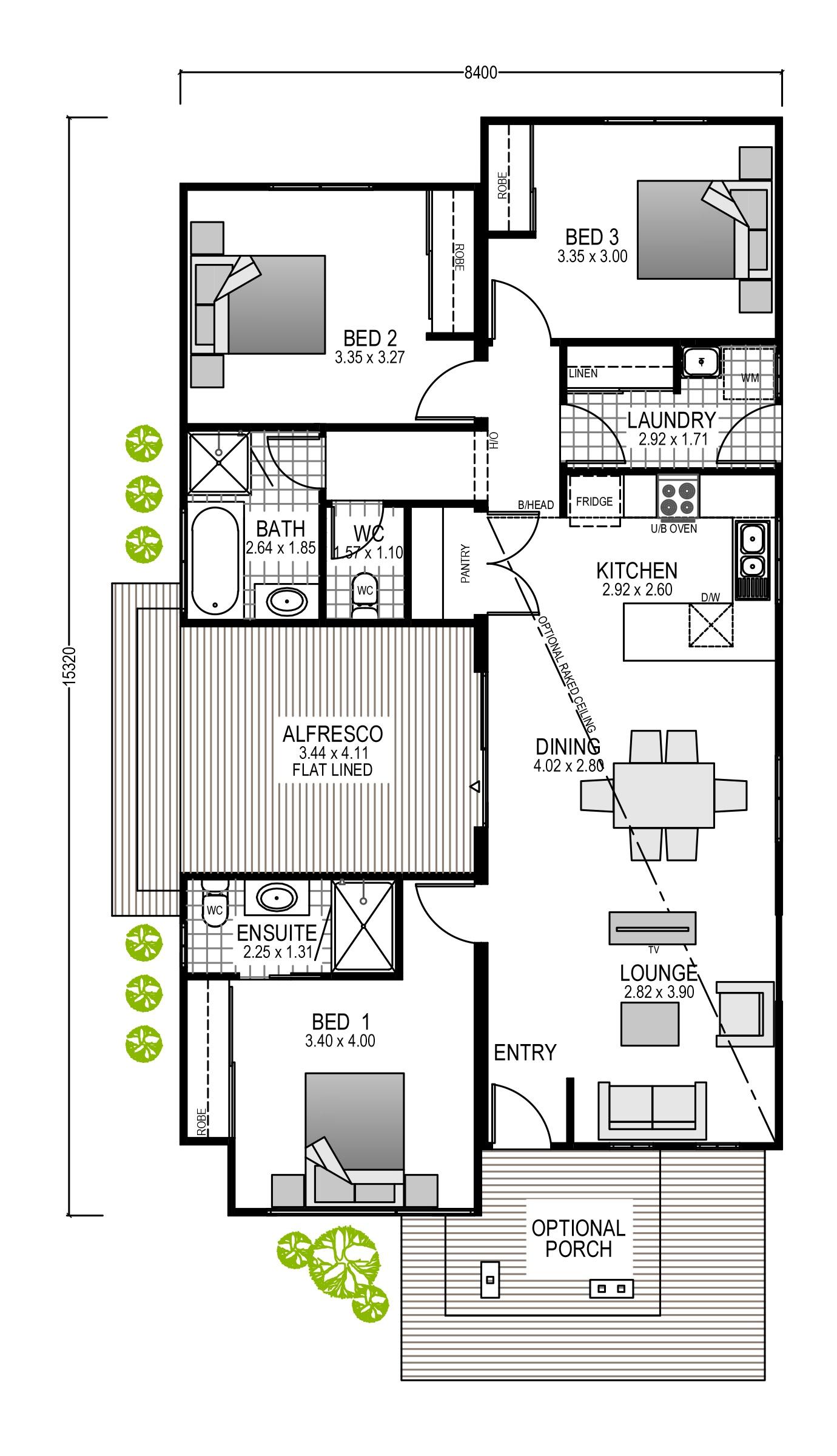 The Adair Blueprint and Floor plan | Modular Homes Perth