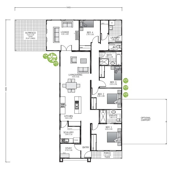 The Glades Blueprint and Floor Plan | Transportable Homes WA