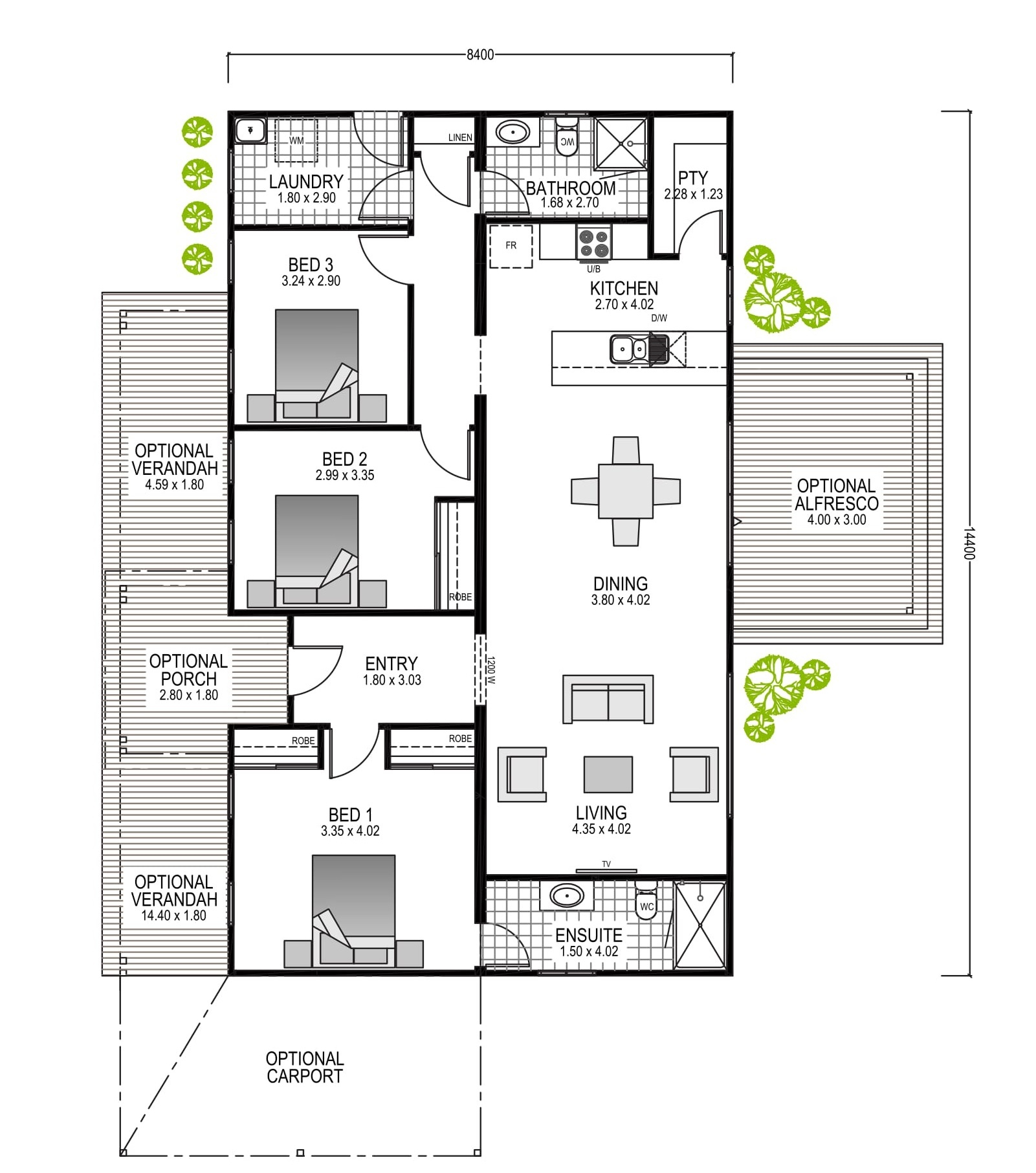 The Preston Blueprint and Floor Plan | Modular Homes Perth