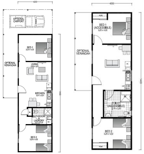 The Farmstay Blueprint and Floor plan | Modular Homes WA