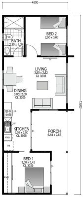 The Hut Blueprint and Floor Plan | Modular Homes Perth