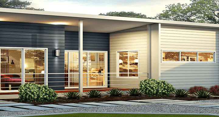 The Hut Home Design with Front Porch | Modular Homes Western Australia