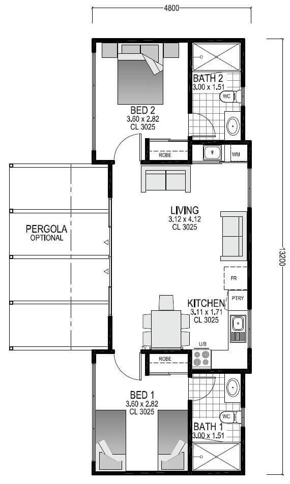 Ocean Retreat Blueprint | Evoke Living Homes