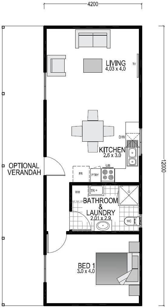 The Seaview home blueprint and floor plan  | Modular Homes Perth