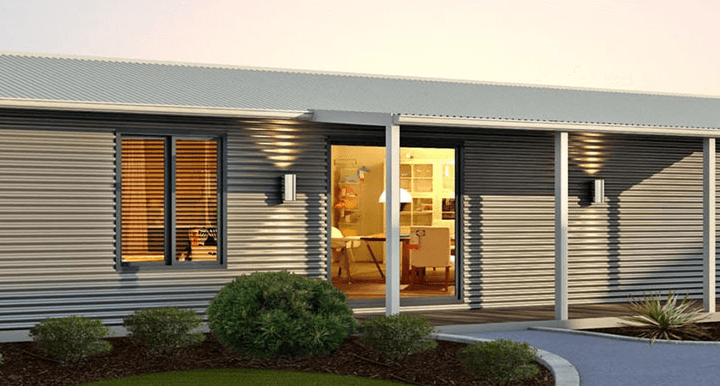 The Oakhill Home Design with Front Porch and Walkway | Modular Homes WA