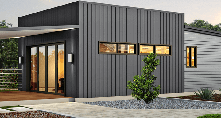 The Salt Box Home Design with Black exterior | WBS Homes