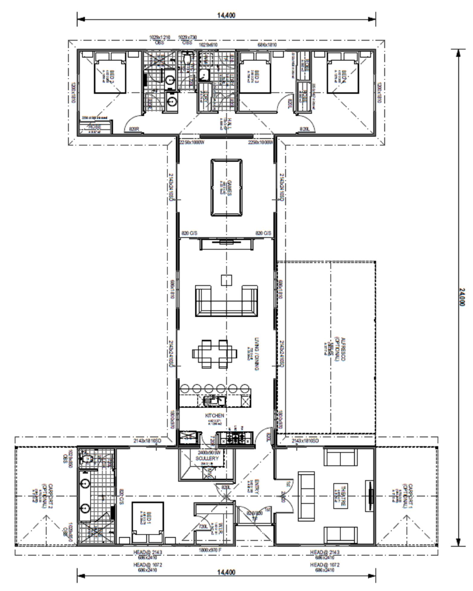 The Belvoir Blueprint and Floor Plan | Modular Homes Perth WA