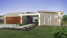 Evoke  3 bedroom design home with garage and front view of house - Modular Homes Perth