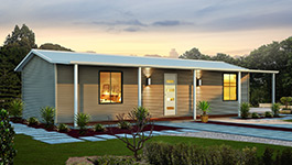 Evoke home farmhouse range with house and verandah - Modular Homes WA