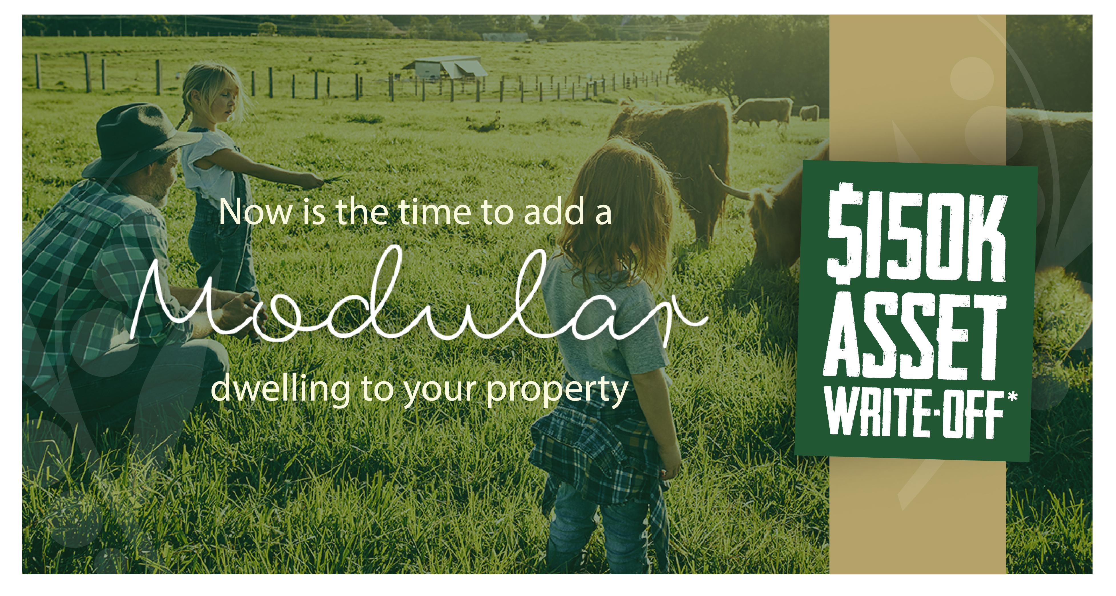 $150k asset write-off modular home